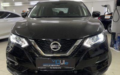 Nissan Qashqai — заменили штатный галоген на bi-led модули Kamiso